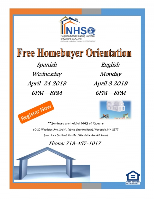 First Time Homebuyers Orientation