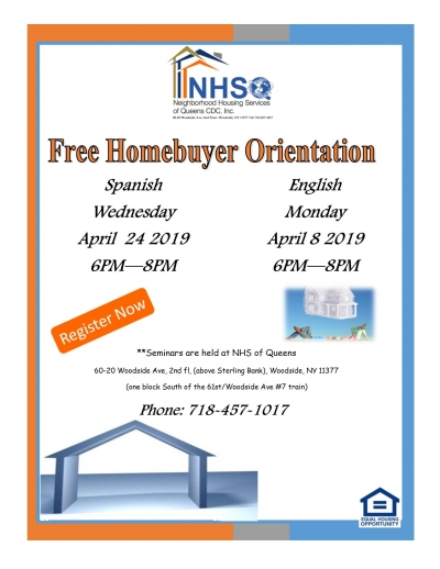 First Time Homebuyers Orientation - English